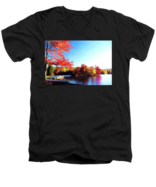 French Creek Fall 020 Men's V-Neck T-Shirt