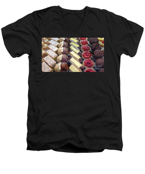 Men's V-Neck T-Shirt featuring the photograph French Delights by Therese Alcorn