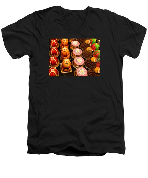 French Pastries In Lyon Men's V-Neck T-Shirt