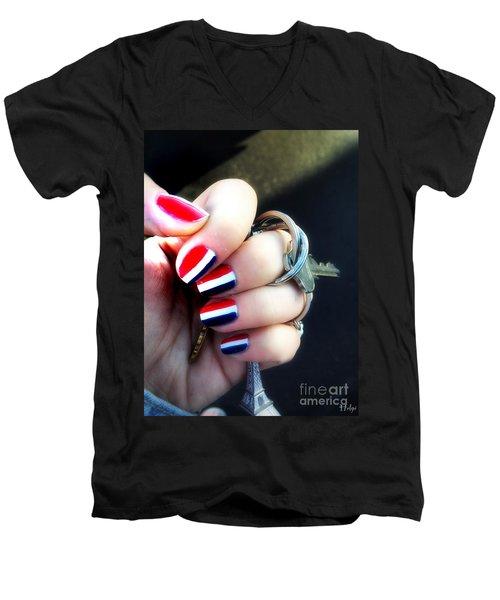 Frenchy Nails Men's V-Neck T-Shirt