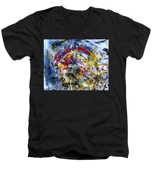 Frequency  Men's V-Neck T-Shirt