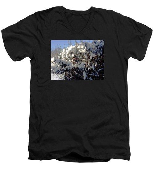 Fresc Snow Men's V-Neck T-Shirt by Vicky Tarcau