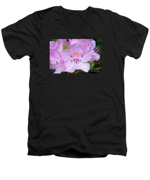 Men's V-Neck T-Shirt featuring the photograph Fresh Summer Rain by Alana Ranney