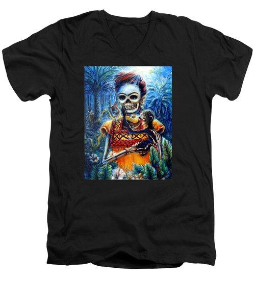Frida In The Moonlight Garden Men's V-Neck T-Shirt