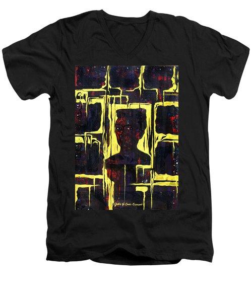 Frida - La Luz Men's V-Neck T-Shirt