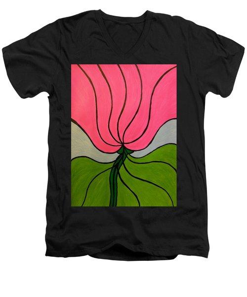 Friendship Flower Men's V-Neck T-Shirt