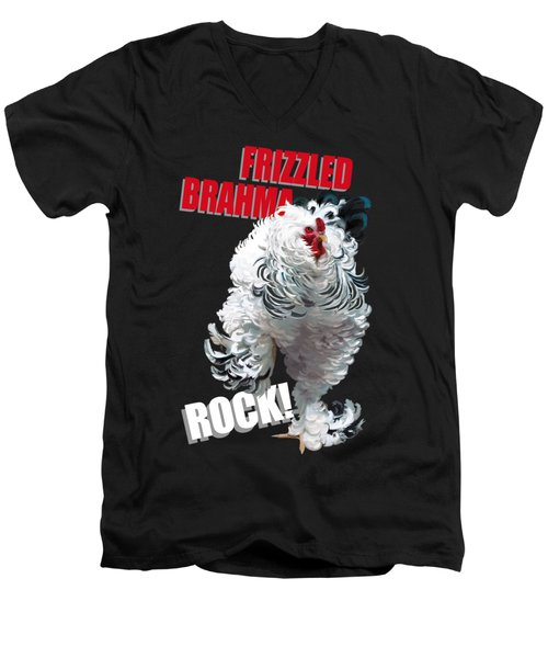Frizzled Brahma T-shirt Print Men's V-Neck T-Shirt