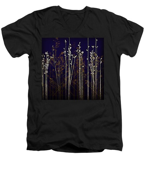 From The Grass We Creep Men's V-Neck T-Shirt by Nick Heap
