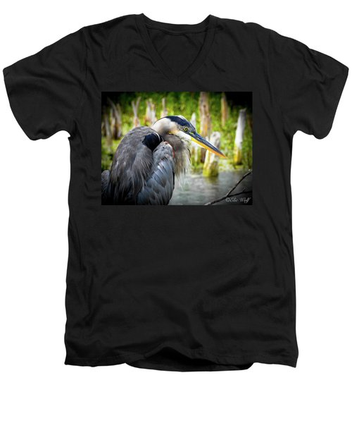 From The Series Great Blue Number 2 Men's V-Neck T-Shirt