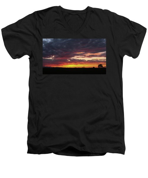 Front Range Sunset Men's V-Neck T-Shirt