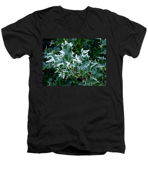 Frosted Holly Men's V-Neck T-Shirt