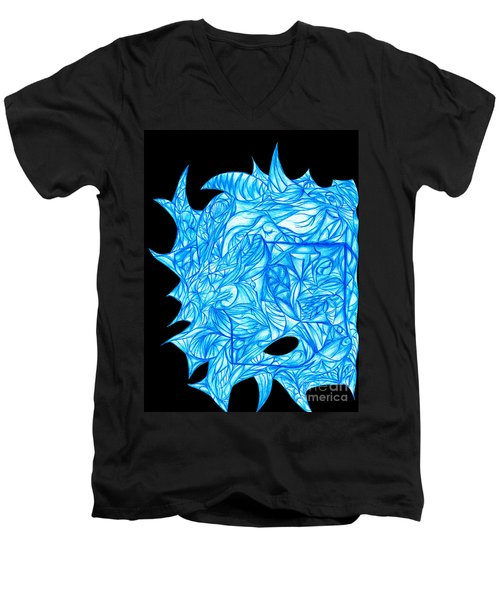 Men's V-Neck T-Shirt featuring the drawing Frozen Desire by Jamie Lynn