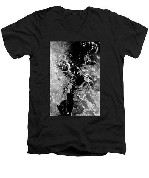 Frozen Illusion Men's V-Neck T-Shirt by Konstantin Sevostyanov