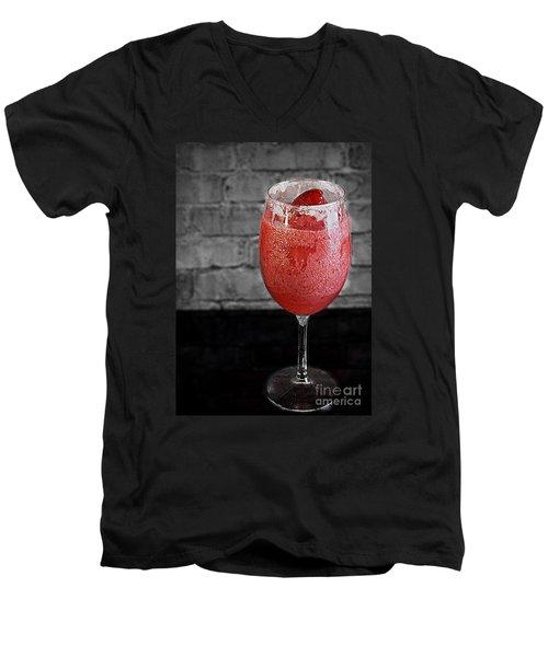Frozen Strawberry Daiguiri Men's V-Neck T-Shirt