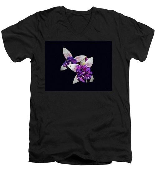 Fuchsia Men's V-Neck T-Shirt