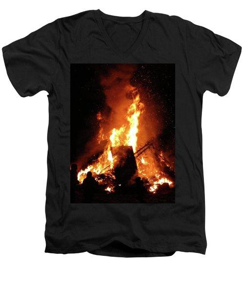 Full Bonfire Men's V-Neck T-Shirt