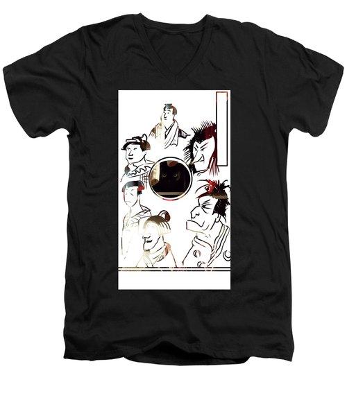Full Circle Eyes Men's V-Neck T-Shirt