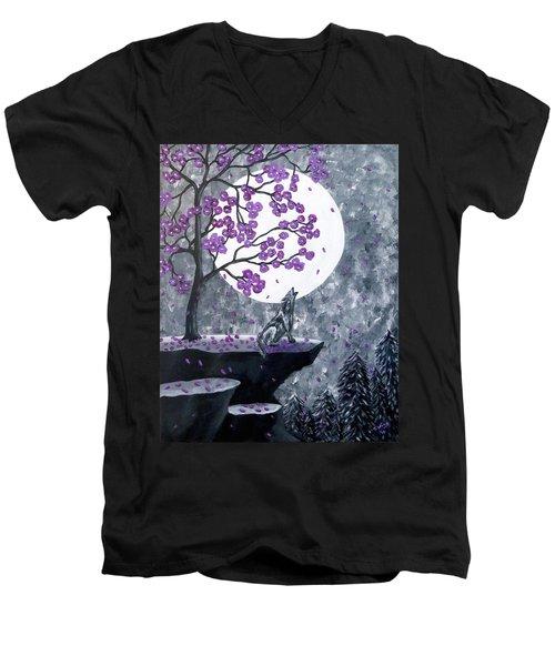 Full Moon Magic Men's V-Neck T-Shirt