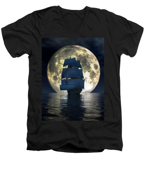 Full Moon Pirates Men's V-Neck T-Shirt