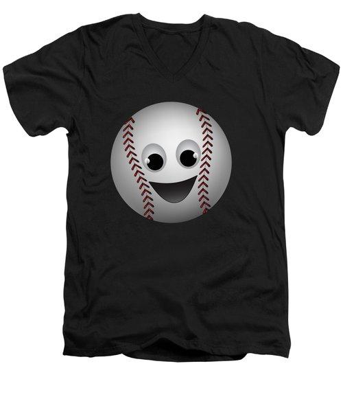 Fun Baseball Character Men's V-Neck T-Shirt