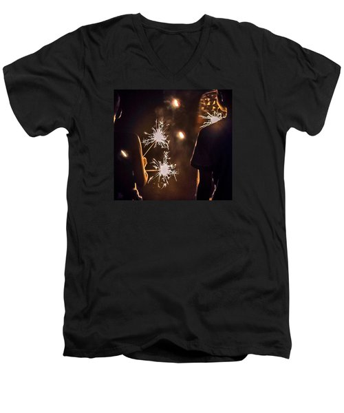 Men's V-Neck T-Shirt featuring the photograph Fun On The 4th by Carlee Ojeda