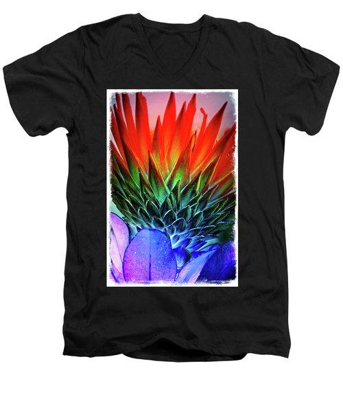 Funky Protea Men's V-Neck T-Shirt