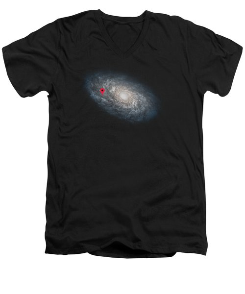 Funny Astronomy Universe  Nerd Geek Humor Men's V-Neck T-Shirt by Philipp Rietz