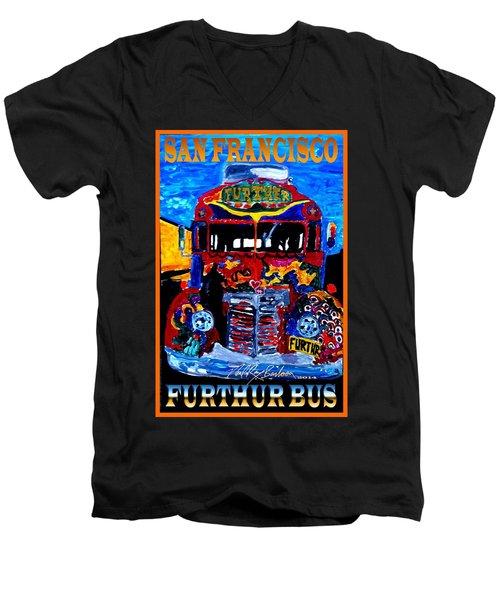 50th Anniversary Further Bus Tour Men's V-Neck T-Shirt