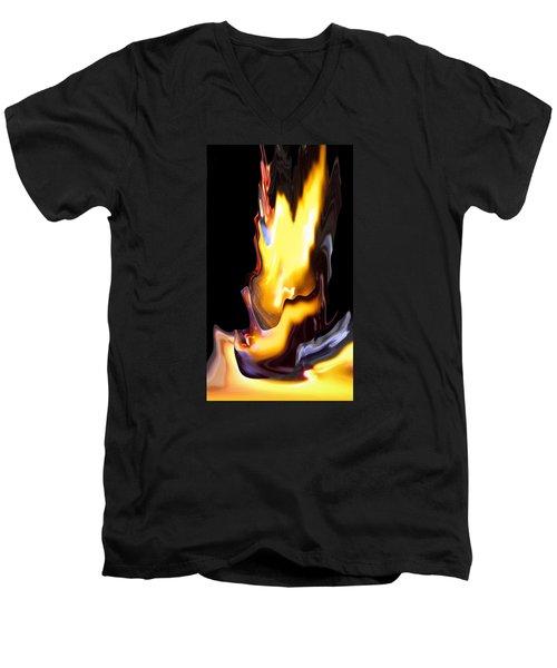 Fusion Phase 2 Men's V-Neck T-Shirt by Cedric Hampton