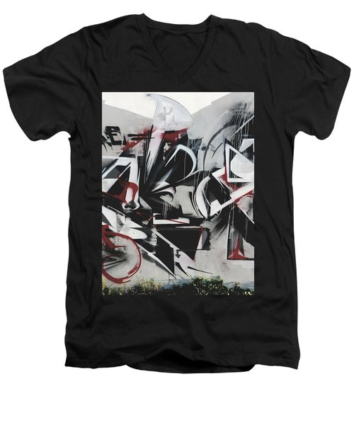 Gaffiti Abstract Art Men's V-Neck T-Shirt