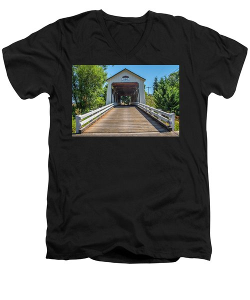 Gallon House Covered Bridge Men's V-Neck T-Shirt