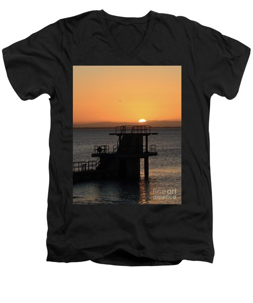 Galway Bay Sunrise Men's V-Neck T-Shirt