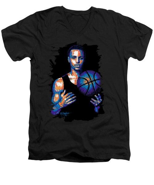 Game Changer Men's V-Neck T-Shirt by Maria Arango