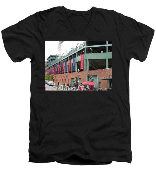 Game Day Men's V-Neck T-Shirt by Barbara McDevitt