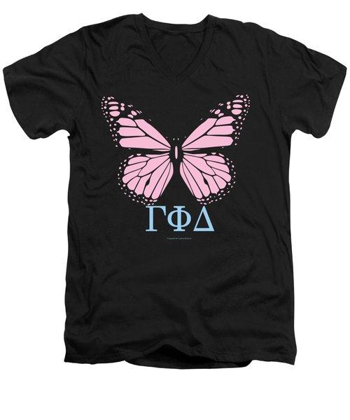 Gamma Phi Delta Classy Butterfly  Men's V-Neck T-Shirt