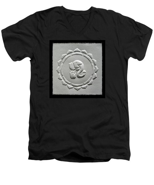 Ganesha Blessings Men's V-Neck T-Shirt by Suhas Tavkar