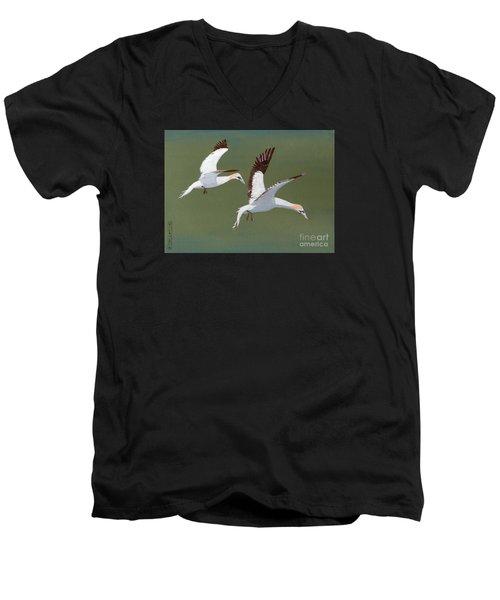 Gannets - Painting Men's V-Neck T-Shirt