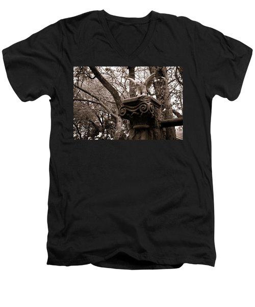 Garden Gargoyle  Men's V-Neck T-Shirt