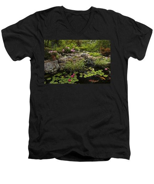 Garden Pond - D001133 Men's V-Neck T-Shirt