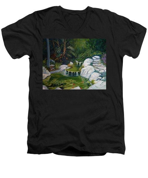 Garden Retreat Men's V-Neck T-Shirt