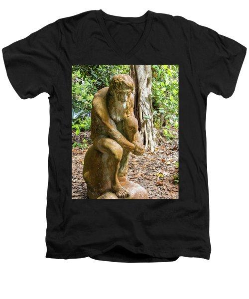 Garden Sculpture 3 Men's V-Neck T-Shirt