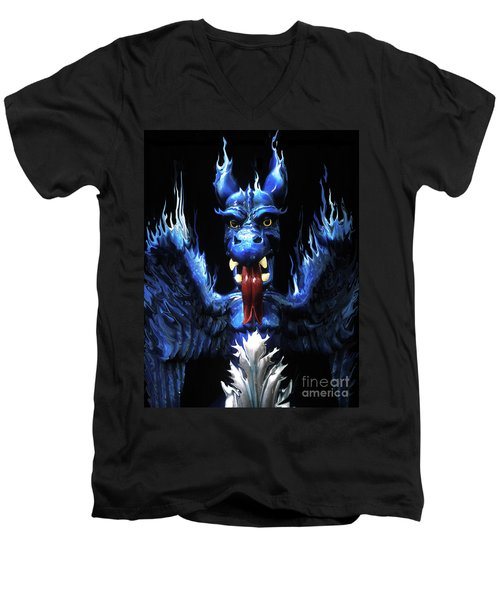 Men's V-Neck T-Shirt featuring the photograph Gargoyle by Jim and Emily Bush