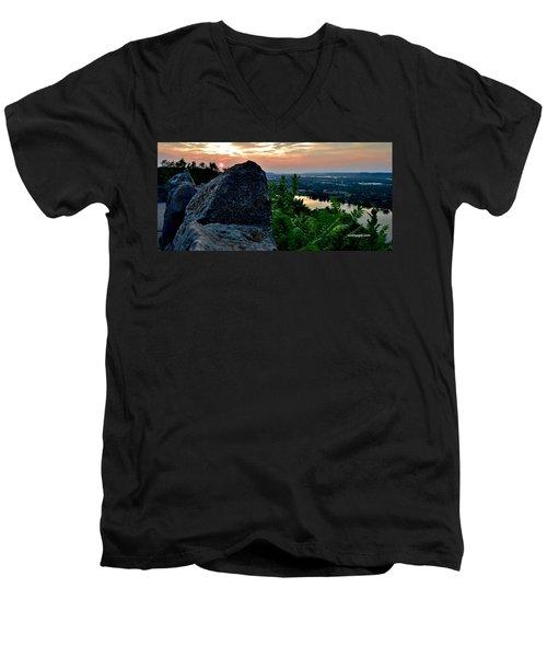 Garvin Heights Sunset Men's V-Neck T-Shirt