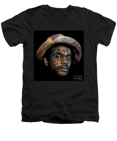 Gary Clark, Jr. No. 2 Men's V-Neck T-Shirt