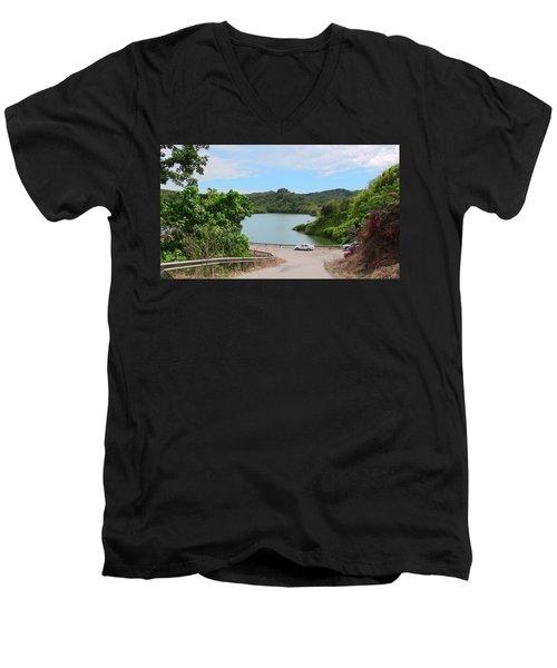 Garzas Lake Road Men's V-Neck T-Shirt