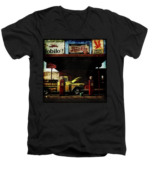 Gas Station No3 Men's V-Neck T-Shirt