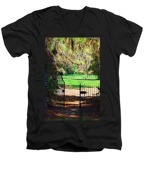 Gate To Heaven Men's V-Neck T-Shirt