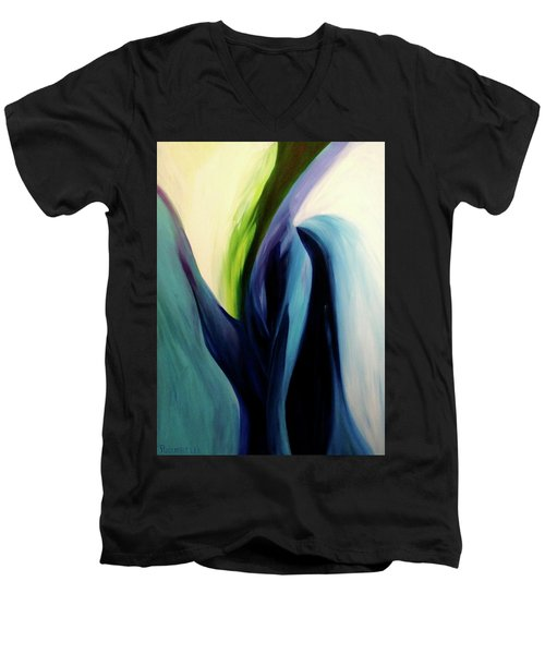 Gate To The Garden  By Paul Pucciarelli Men's V-Neck T-Shirt by Iconic Images Art Gallery David Pucciarelli