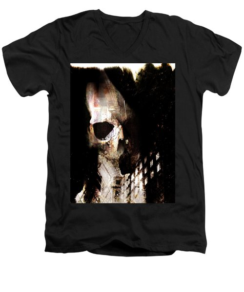 Gates Men's V-Neck T-Shirt by Ken Walker