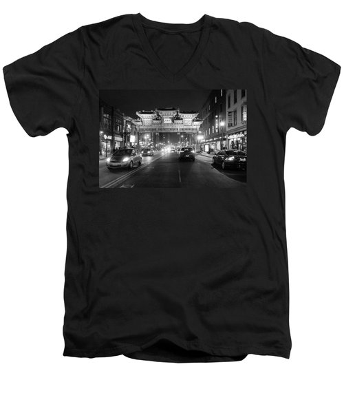 Gateway To Chinatown Men's V-Neck T-Shirt